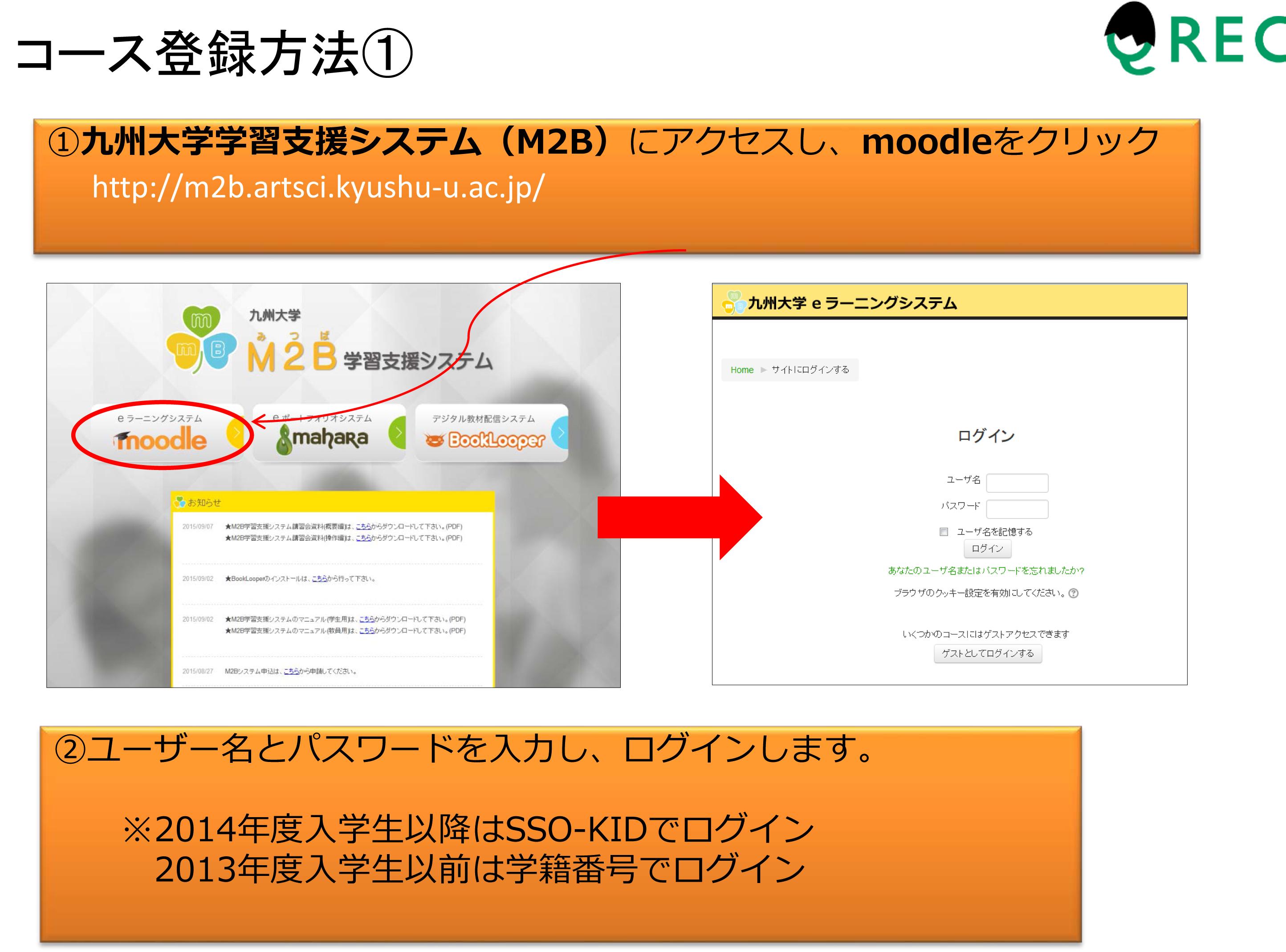 WEB学習システム(Blackboard)登録方法